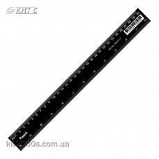 Лінійка пластикова чорна 30см AXENT 7630-01