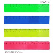 Лінійка пластикова кольорова 15см Memoris-Precious