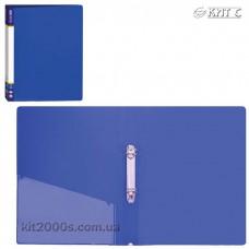 Папка пластикова 2 кільця + карман А4 35мм Economix E30701-02 синя