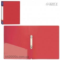 Папка пластикова 2 кільця + карман А4 35мм Economix E30701-03 червона
