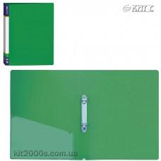 Папка пластикова 2 кільця + карман А4 35мм Economix E30701-04 зелена
