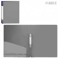Папка пластикова 2 кільця + карман А4 35мм Economix E30701-10 сіра