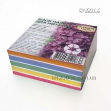 Паперовий блок для нотаток 85х85х400л кольоровий клеєний «Standart COLOR» Україна