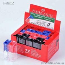Точилка Faber-Castell 125LV з пласт. контейнером на 1лезо