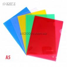 Куточок А5 пластиковий щільний Economix Е31156 кольоровий асорті