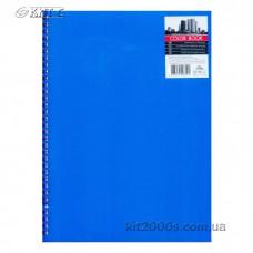Зошит А4 80 арк. на бік спіралі PL «COLOR BOOK» обкладинка синій пластик, клітинка ТА 4380