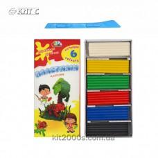 Пластилін 6 кольорів 120г «Захоплення» картон Гамма 331008, Україна