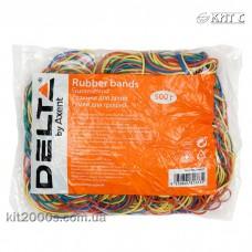 Резинки для упаковки грошей 500г Delta D4622 d60мм