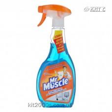 Засіб для миття скла з розприскувачем Містер Мускул синій 500 мл