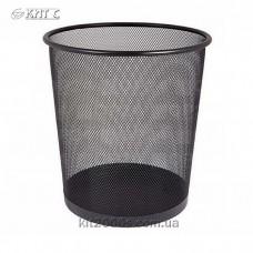 Кошик для паперів 7л металева сітка чорний кругла Eco-Eagle TY550