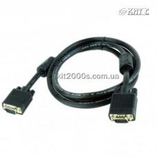 Кабель VGA 1.8 м., Gembird/ Cablexpert (CC-PPVGA-6B), black