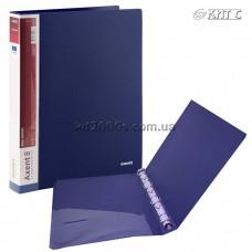 Папка пластикова 4 кільця + карман А4 35мм AXENT 1208-02-A синя
