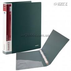 Папка пластикова 4 кільця + карман А4 35мм AXENT 1208-05-A зелена