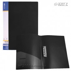 Папка з притиском + кишеня А4 пластик Economix 31202-01 чорна