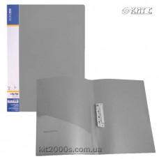 Папка з притиском + кишеня А4 пластик Economix 31202-10 сіра