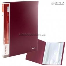 Папка з файлами A4 40 файлів AXENT 1040-04-A бордова