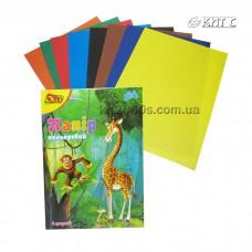 Кольоровий папір А4, 8арк. 8кольорів Olli-0408 Україна