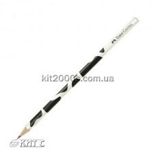 Олівець чорнографітний Faber-Castell В мотив «Корова» тригранний