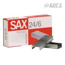 Скоби для степлера № 24/6 SAX (1000шт)