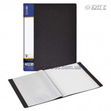 Папка з файлами A4 20 файлів Economix чорна