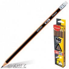 Олівець чорнографітний Maped Blask Peps HB, з гумкою